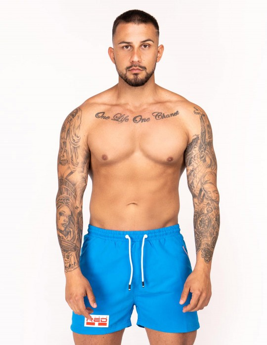 DOUBLE RED Aqua Swimshorts Light Blue