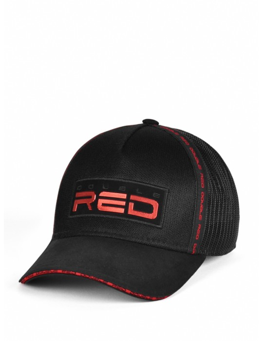 DOUBLE RED EXQUISIT Cap Black