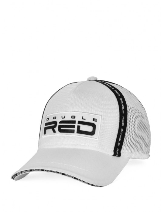 DOUBLE RED EXQUISIT Cap White/Black
