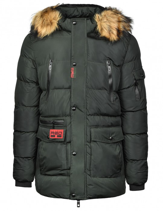 RED EXPLORER Parka Dark Green
